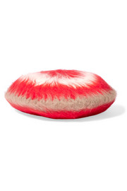 Striped angora-blend beret