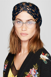 Gucci Intarsia metallic knitted headband