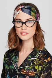 Gucci Floral-print silk-satin headband