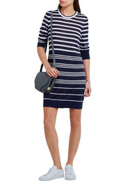 Equipment Marta striped silk and cashmere-blend sweater dress