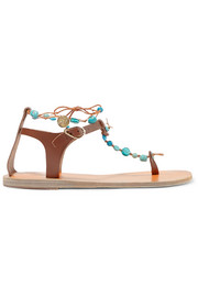 Ancient Greek Sandals Chrysso embellished leather sandals