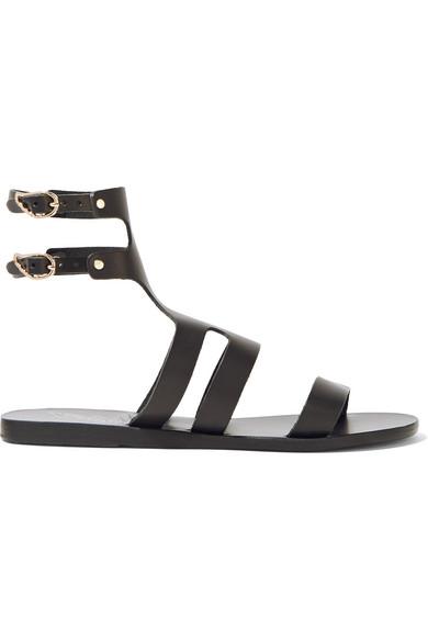 Ancient Greek Sandals - Agapi Leather Sandals - Black