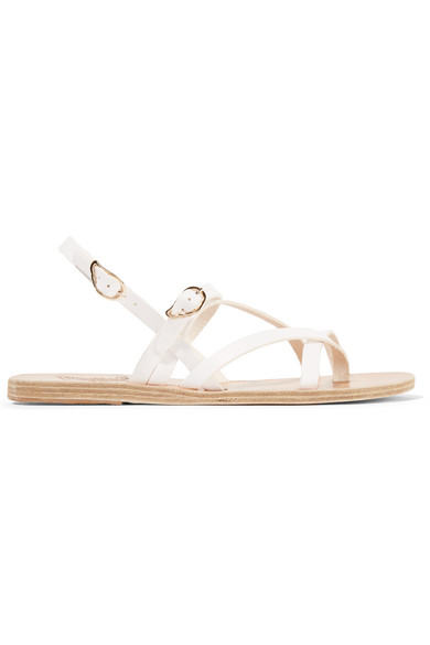 Ancient Greek Sandals - Zea Leather Sandals - White