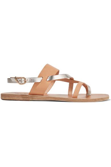 Ancient Greek Sandals - Alethea Leather Sandals - Beige