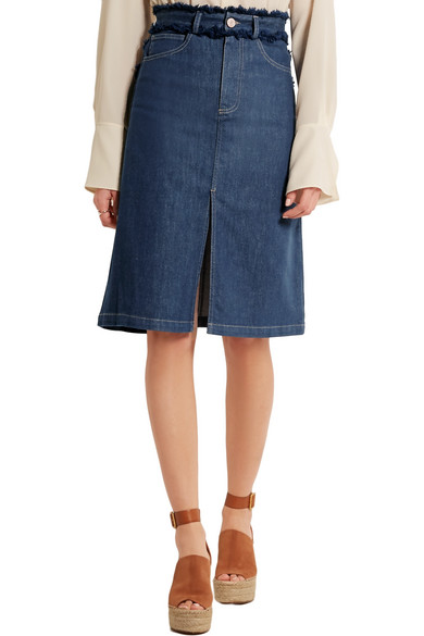 See by Chloé | Frayed denim skirt | NET-A-PORTER.COM