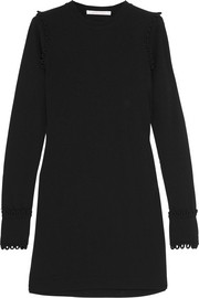 See by Chloé Loop-detailed stretch-crepe mini dress