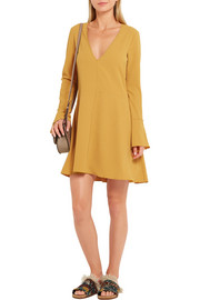 Stretch-crepe mini dress
