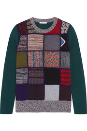 See by Chloé Patchwork knitted sweater