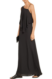 Ellie draped chiffon maxi dress