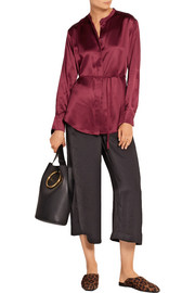 Elizabeth and James Wiley silk-satin shirt