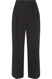 Elizabeth and James Billie cropped crepe wide-leg pants