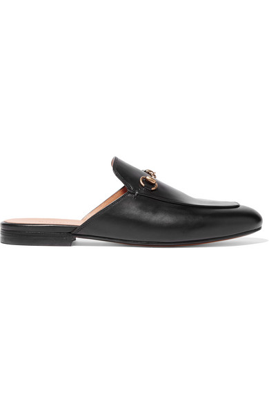 Gucci - Horsebit-detailed Leather Slippers - Black