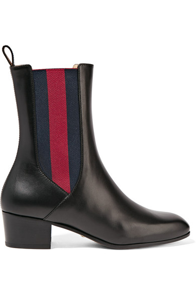 Gucci - Leather Chelsea Boots - Black