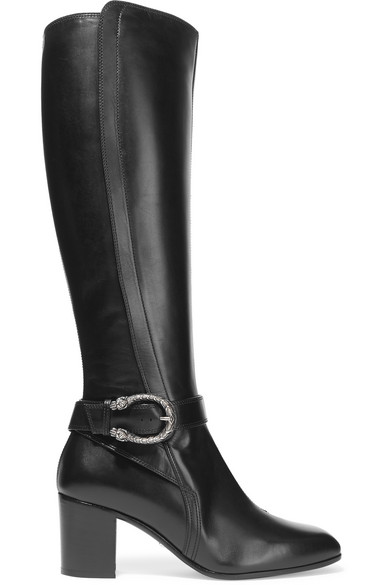 Gucci - Dionysus Leather Knee Boots - Black