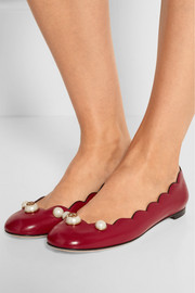 Gucci Embellished leather ballet flats