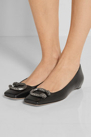 Gucci Dionysus leather ballet flats