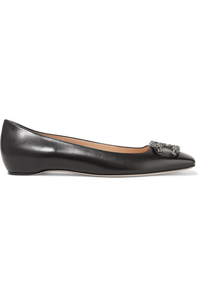 DIONYSUS LEATHER BALLET FLATS