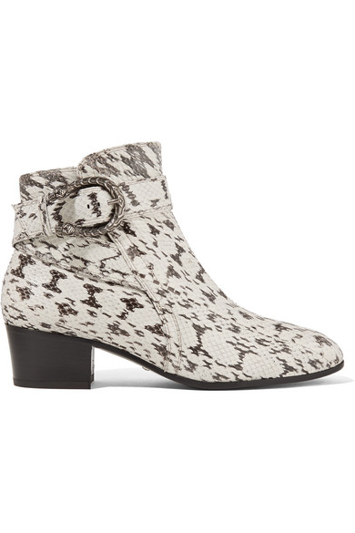 Gucci - Elaphe Ankle Boots - Snake print