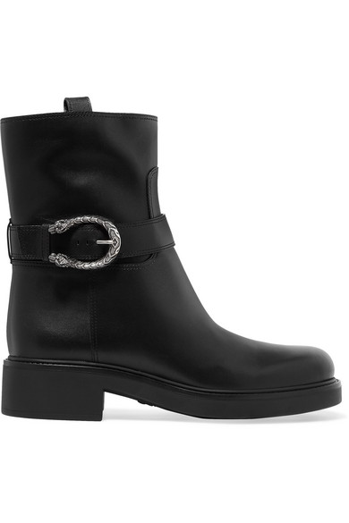 Gucci - Dionysus Leather Boots - Black