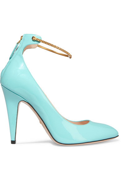 Gucci - Patent-leather Pumps - Turquoise