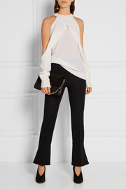 Dion Lee Draped cutout merino wool sweater