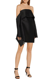Dion Lee Off-the-shoulder wool-blend shantung mini dress
