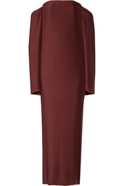 Dion Lee Off-the-shoulder plissé-satin maxi dress