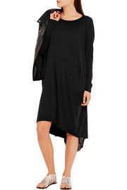 Raquel Allegra Distressed cotton-blend jersey dress