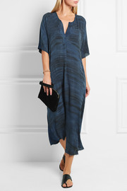 Raquel Allegra Oversized tie-dyed silk midi dress