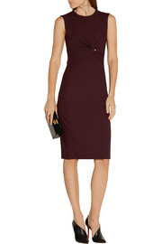 Narciso Rodriguez Twist-front wool-gabardine dress