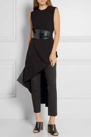 Narciso Rodriguez Asymmetric stretch-crepe tunic