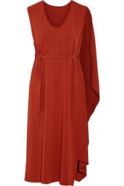 Narciso Rodriguez Cape-back crepe midi dress