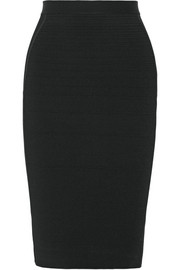 Narciso Rodriguez Ribbed paneled jersey pencil skirt