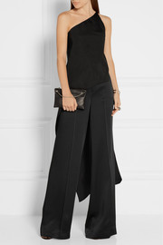 Narciso Rodriguez One-shoulder asymmetric silk top