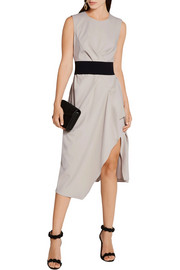 Narciso Rodriguez Belted gathered wool-gabardine dress