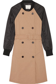 Cotton-gabardine and shell trench coat