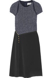 3.1 Phillip Lim Bouclé and silk crepe de chine dress