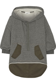 3.1 Phillip Lim Layered loopback cotton-jersey and cotton-blend hooded top