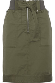 Cotton-blend twill skirt