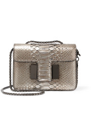 Sienna mini python shoulder bag