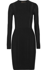 Versace Ribbed-knit dress