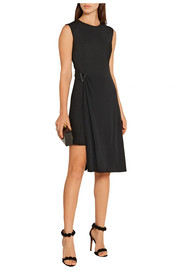 Versace Layered crepe and stretch-jersey mini dress