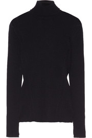 Versace Button-embellished ribbed merino wool sweater