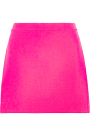 Versace Neon wool-crepe mini skirt