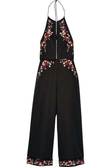 6c91ede04043 Zimmermann. Sakura embroidered linen and cotton-blend jumpsuit