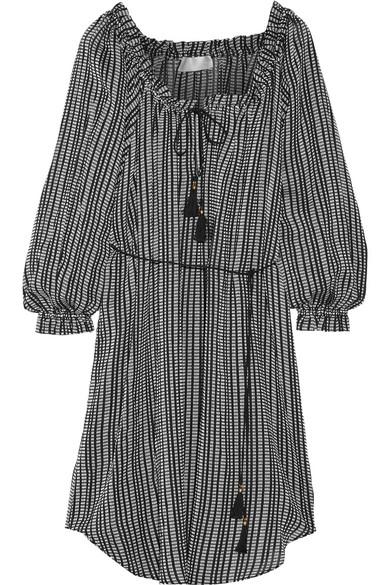 zimmermann female 188971 zimmermann pavilion striped cottongauze dress black