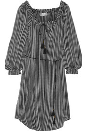 Pavilion striped cotton-gauze dress