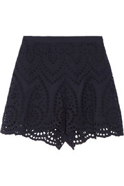 Zimmermann Harlequin broderie anglaise cotton shorts