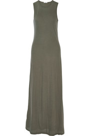 James Perse Stretch-cotton jersey maxi dress