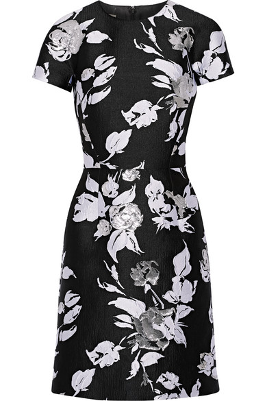 michael kors female 188971 michael kors collection jacquard mini dress black
